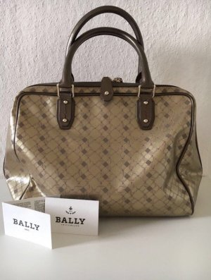 Original BALLY Tasche in Gold/Braun