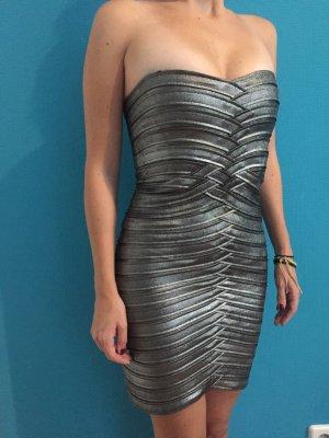 BCBG Maxazria Dress silver-colored