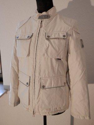 Original Belstaff Jacke Winterjacke Daunen Funktionsjacke Bikerjacke Silver Weiß