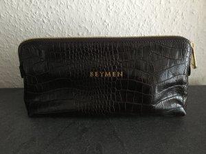 Original Beymen Clutch aus Leder, Farbe dunkelbraun