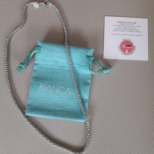 Original Bianca Kette aus Italien,  Silber platiniert, 45 cm