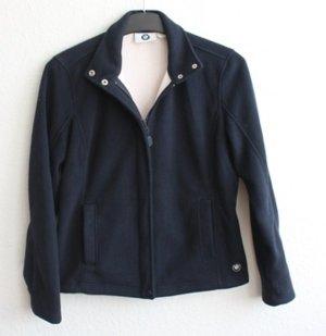 BMW Fleece Jackets natural white-dark blue synthetic fibre