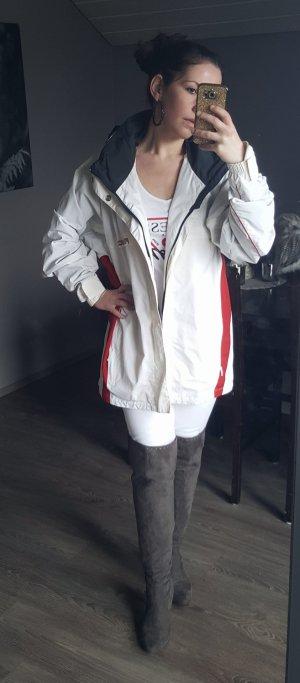 Original Bogner Parka Outdoor-Jacke Gr 40 weiß rot Fire & Ice Skijacke Mantel Jacke