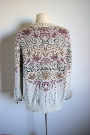 Original Bogner vintage Strickjacke, Wollcardigan floral ornamental Barock