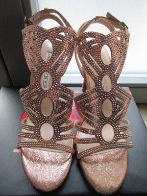 Buffalo Sandalo con cinturino bronzo-grigio chiaro Finta pelle