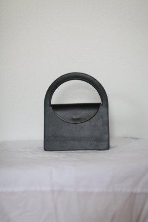 Original Building Block Tasche Leder Design Vintage Look schwarz Blogger