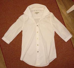 Original Burberry Bluse Gr.xs 34 weiß 3/4-Arm Hemd Shirt