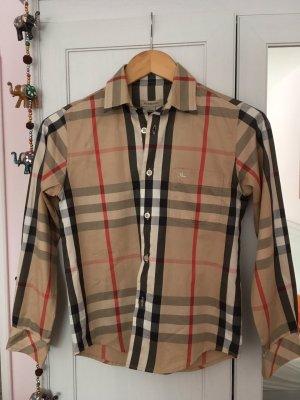 Original Burberry Bluse, Typisches Karo-Muster Glencheck, Neu mit Etikett, 32