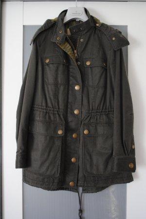 Original Burberry Brit Parka Jacke khaki Gr. 34/36 *wie neu*