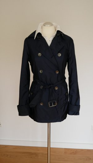 Burberry Brit Heavy Raincoat dark blue