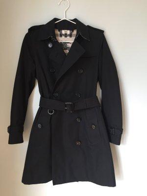Original BURBERRY Damen Trenchcoat Mantel KLASSIKER! Gr. 34 schwarz