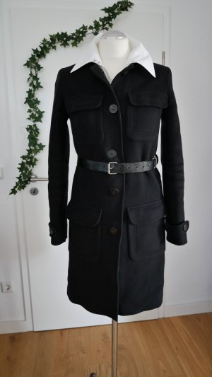 Burberry Wool Coat black wool