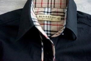 Original Burberry London Bluse schwarz Glencheck Breuninger Gr.S business