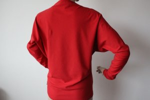 Original Burberry London M Pullover Fledermausärmel Rot Luxus