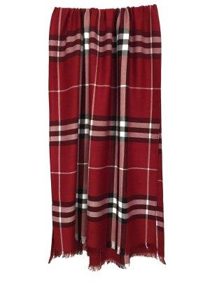 Original Burberry London Schal 100% Kaschmir Cashmere Tuch Rot