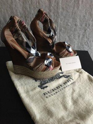Burberry Platform High-Heeled Sandal brown
