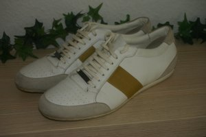 Original Burberry Sneakers/Schuhe Gr.41 UK8 weiß gold Sneaker Leder Luxus