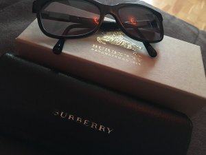 Burberry Angular Shaped Sunglasses black-silver-colored