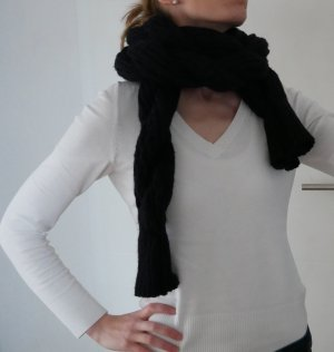 Burberry Knitted Scarf black-anthracite