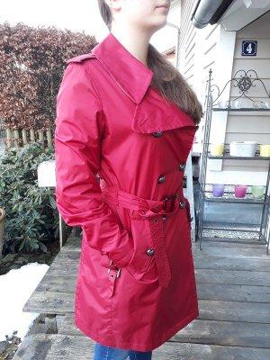 Burberry Heavy Raincoat dark red nylon