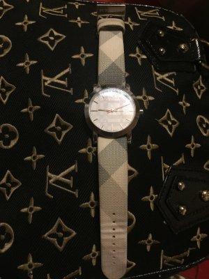 Burberry Horloge met lederen riempje veelkleurig