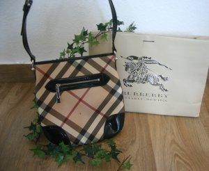 Original Burberry Umhängetasche Crossbody Bag Tasche schwarz + Giant Check Handtasche