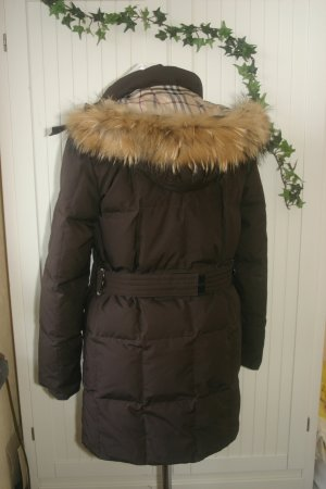 Original Burberry Winter-Jacke Parka mit Fell braun Gr.36/S Winter-Mantel