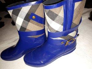 Burberry Botte en caoutchouc bleu acier