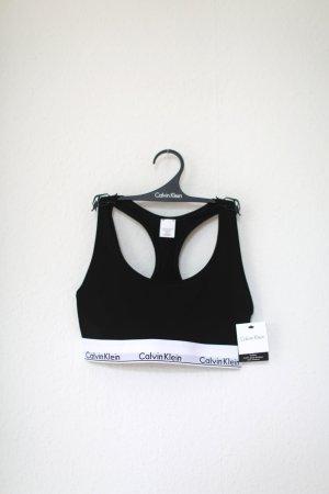 Original Calvin Klein BH Bralette Logo schwarz weiß Neu ungetragen und verpackt Gr. M