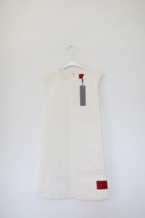 Original Calvin Klein Jeans Kleid weiß Nude 60s Vintage Look Gr. M Neu mit Etikett