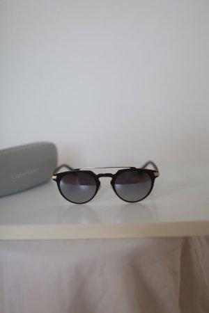 Original Calvin Klein Sonnenbrille schwarz Gold Verspiegelt Blogger