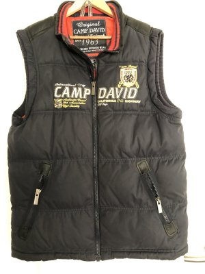 Camp David Quilted Gilet dark blue