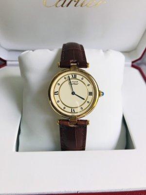 Original Cartier Vermeil Groß inkl. Cartier Uhrenbox