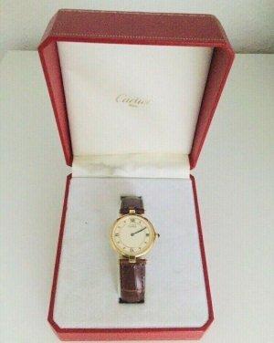 Original Cartier Vermeil Uhr Groß inkl. Box