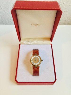 Original Cartier Vermeil Uhr Groß inkl. Cartier Box