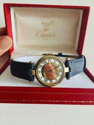 Original Cartier Vermeil Uhr inkl. Box und Zertifikat