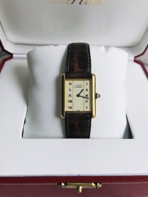 Original Cartier Vermeil Uhr inkl. Cartier Box
