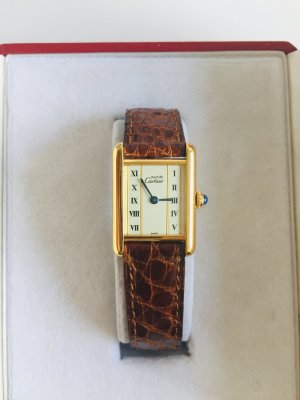 original cartier vermeil uhr inkl cartier box