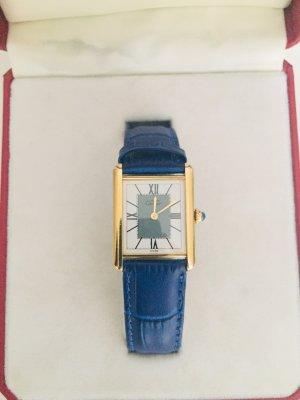 Original Cartier Vermeil Uhr inkl. Zertifikat