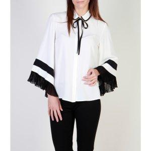 Original Cavalli Class Bluse White Black 36