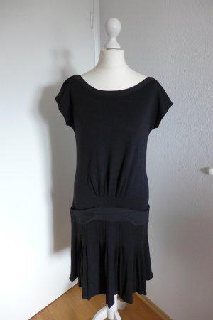 Original Cavalli Gatsby Vintage Kleid schwarz Wolle Seide Gr. 38 neu