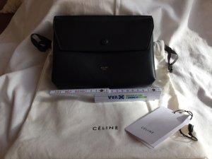 Celine Pochette black leather