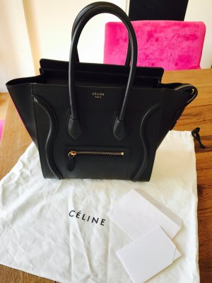 Celine Carry Bag black leather