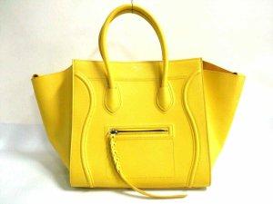 Original CELINE Luggage Square - Tragetasche aus gelbem Phantomleder