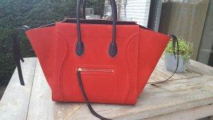 original Céline Phantom luggage in rotem Wildleder + Rechnung
