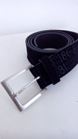 cerruti 1881 Leather Belt black leather