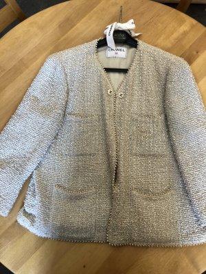 Chanel Tweed blazer grijs-groen-room