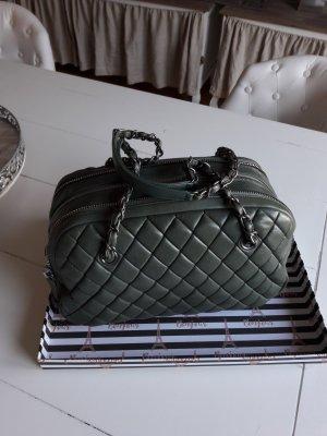 Chanel Sac à main gris vert-kaki