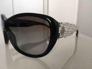 Chanel Lunettes de soleil ovales noir-blanc