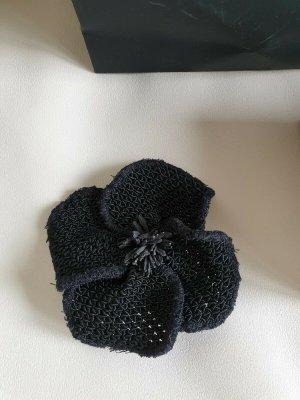 Chanel Broche noir coton